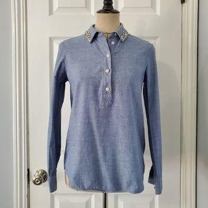 Kate Spade Chambray Popover Shirt
